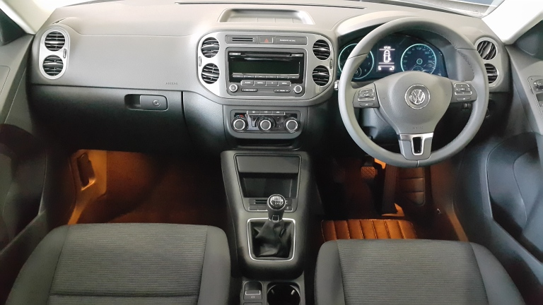 VW Tiguan interior is so clean and clear