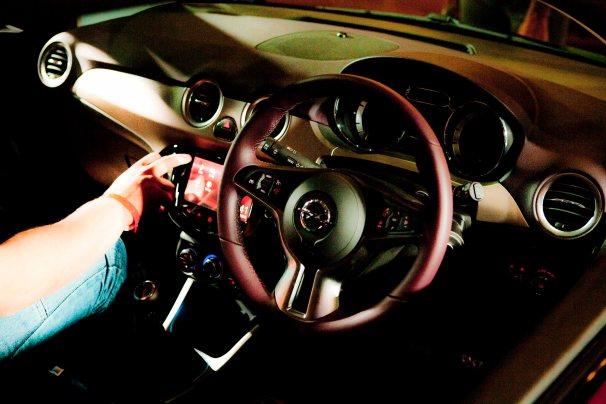 Opel Adam interior in deep purple
